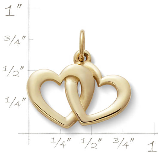 View Larger Image of Linked Hearts Charm