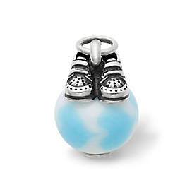 Baby Boy Shoes with Light Blue Charm