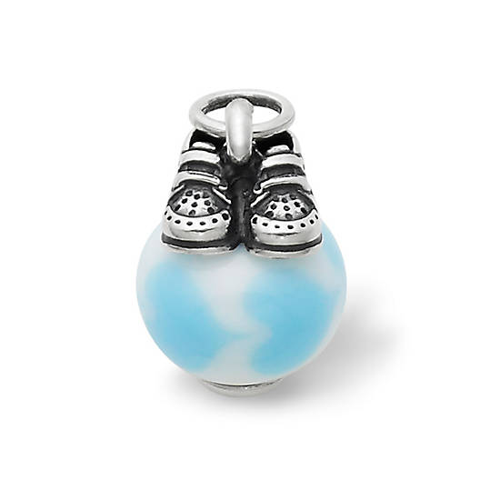 View Larger Image of Baby Boy Shoes with Light Blue Charm