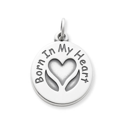 """Born In My Heart"" Adoption Charm"