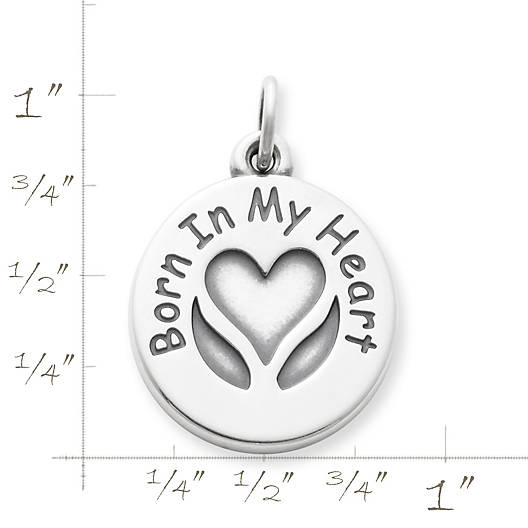 "View Larger Image of ""Born In My Heart"" Adoption Charm"