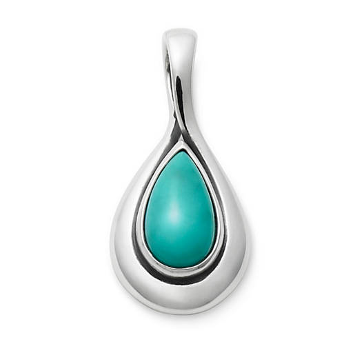 View Larger Image of Turquoise Teardrop Pendant