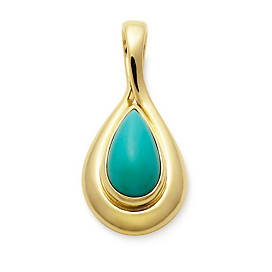 Turquoise Teardrop Pendant