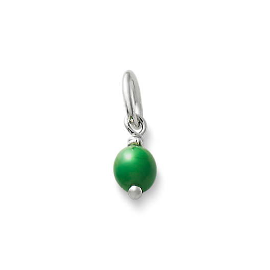 Glass bead charms pendants jewelry james avery green glass enhancer bead aloadofball Gallery