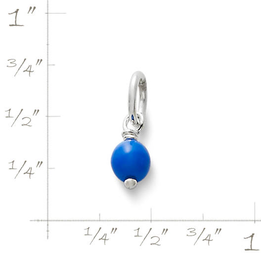 View Larger Image of Royal Blue Glass Enhancer Bead