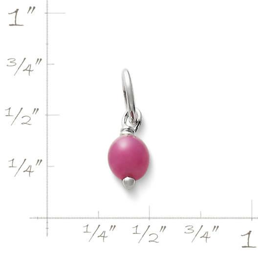 View Larger Image of Dark Pink Glass Enhancer Bead