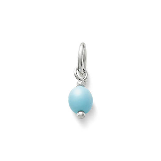 View Larger Image of Light Blue Glass Enhancer Bead