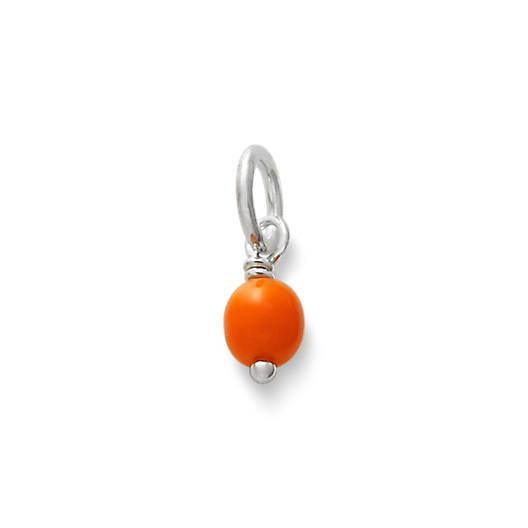 View Larger Image of Orange Glass Enhancer Bead