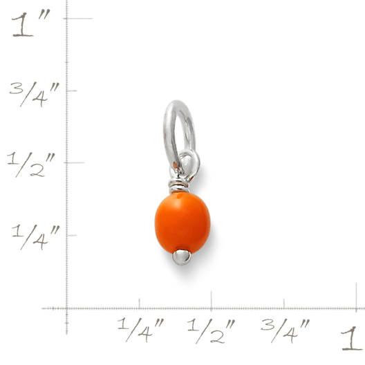 View Larger Image of Orange Glass Enhancer Bead