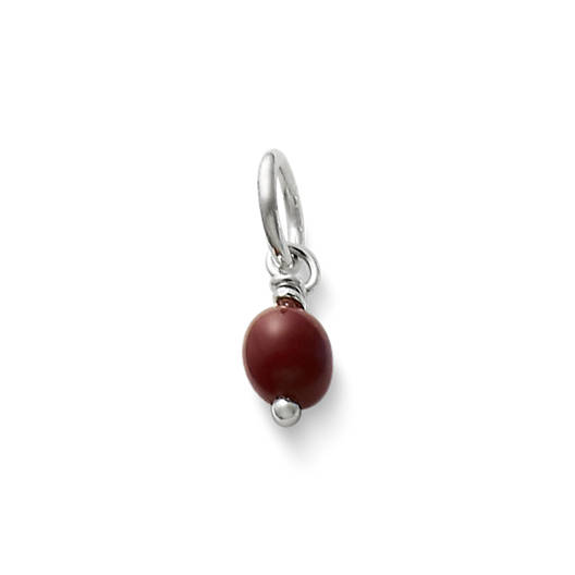 View Larger Image of Maroon Glass Enhancer Bead