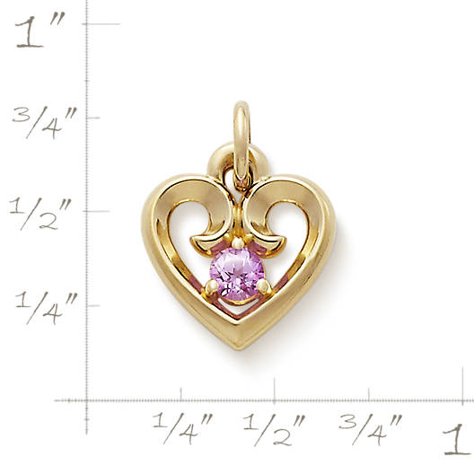 View Larger Image of Avery Remembrance Heart with Lab-Created Pink Sapphire