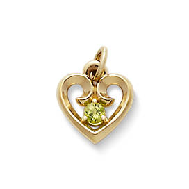 Avery Remembrance Heart Pendant with Peridot