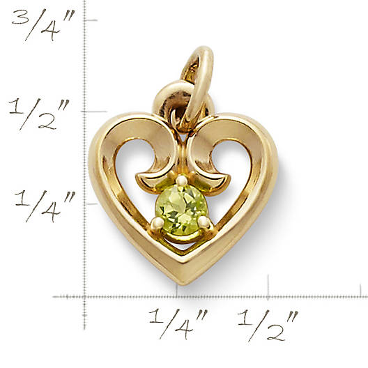 View Larger Image of Avery Remembrance Heart Pendant with Peridot