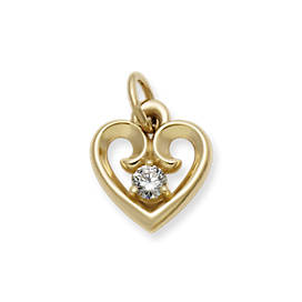 Avery Remembrance Heart Pendant with Diamond