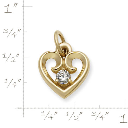View Larger Image of Avery Remembrance Heart Pendant with Diamond
