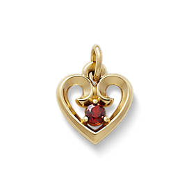 Avery Remembrance Heart Pendant with Garnet