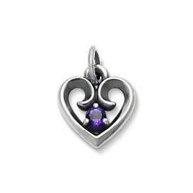 Avery Remembrance Heart Pendant with Amethyst