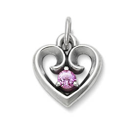 Avery Remembrance Heart with Lab-Created Pink Sapphire