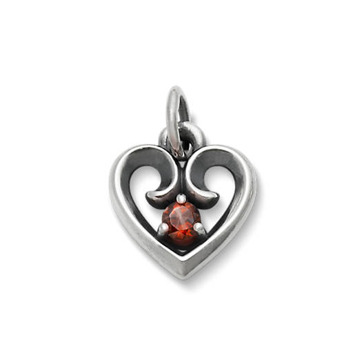 View Larger Image of Avery Remembrance Heart Pendant with Garnet