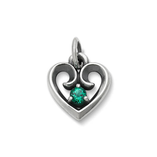 Avery remembrance heart pendant with lab created emerald james avery view larger image of avery remembrance heart pendant with lab created emerald mozeypictures Image collections