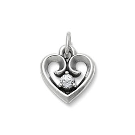 Avery Remembrance Heart Pendant with Lab-Created White Sapphire