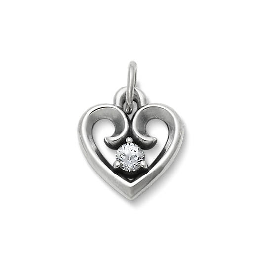 View Larger Image of Avery Remembrance Heart Pendant with Lab-Created White Sapphire