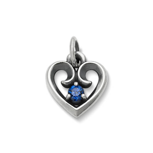 View Larger Image of Avery Remembrance Heart Pendant with Lab-Created Blue Sapphire