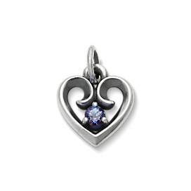 Avery Remembrance Heart Pendant with Lab-Created Alexandrite