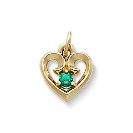 Avery Remembrance Heart Pendant with Lab-Created Emerald