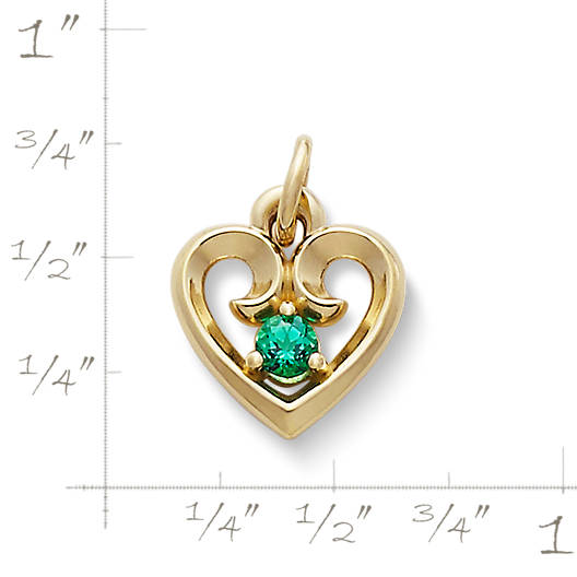 View Larger Image of Avery Remembrance Heart Pendant with Lab-Created Emerald