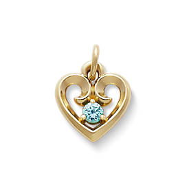 Avery Remembrance Heart Pendant with Blue Zircon