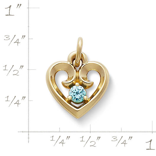 View Larger Image of Avery Remembrance Heart Pendant with Blue Zircon
