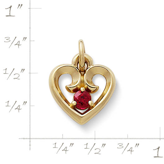View Larger Image of Avery Remembrance Heart Pendant with Lab-Created Ruby