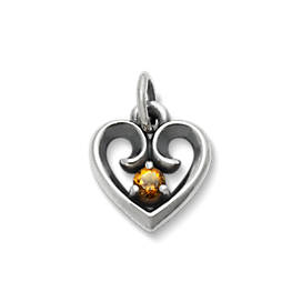 Avery Remembrance Heart Pendant with Citrine