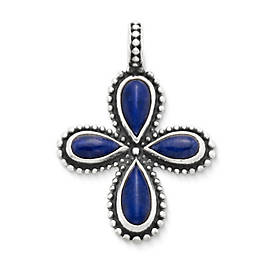 Beaded Sodalite Cross