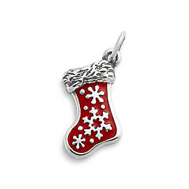 Enamel Christmas Stocking Charm