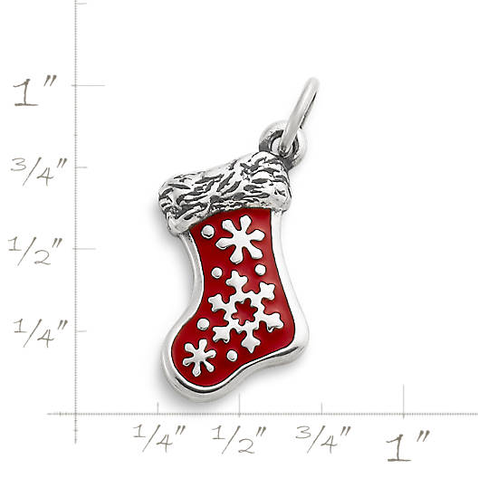 View Larger Image of Enamel Christmas Stocking Charm