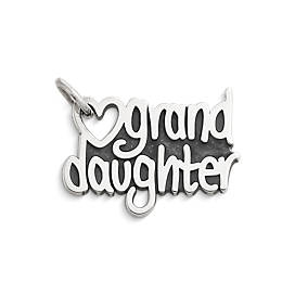 """Granddaughter"" Heart Charm"