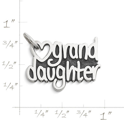 "View Larger Image of ""Granddaughter"" Heart Charm"