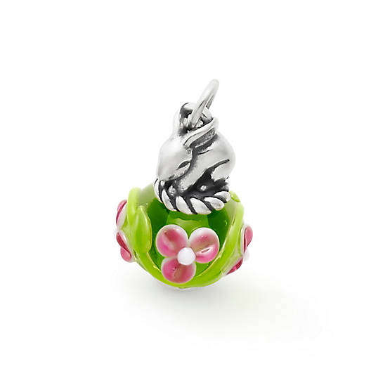 View Larger Image of Spring Bunny Art Glass Charm