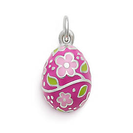 Painted Easter Egg Enamel Charm