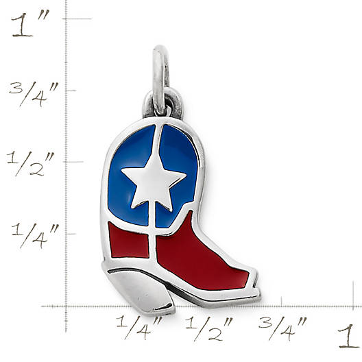 View Larger Image of Lone Star Boot Enamel Charm