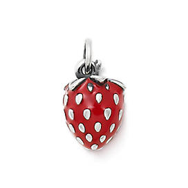 Enamel Wild Strawberry Charm