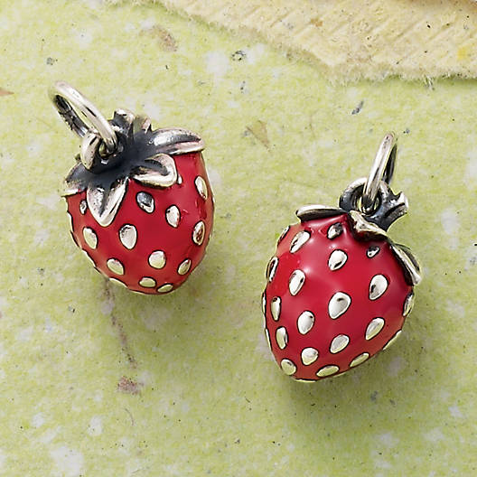 View Larger Image of Wild Strawberry Enamel Charm