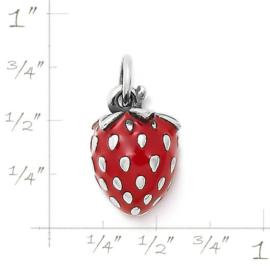 View Larger Image of Enamel Wild Strawberry Charm