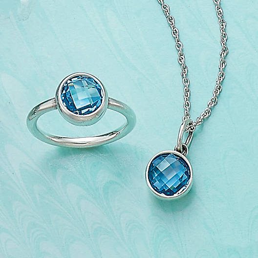 View Larger Image of Avery Isabella Blue Topaz Pendant
