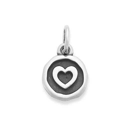 View Larger Image of Heart Disc Charm