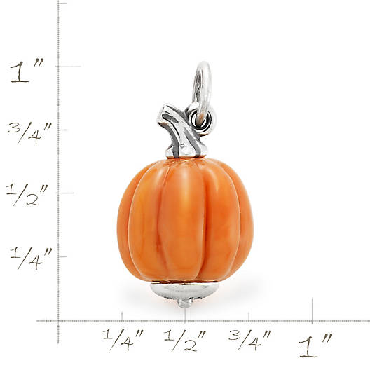 View Larger Image of Harvest Pumpkin Art Glass Charm