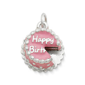 Enamel Birthday Cake Charm
