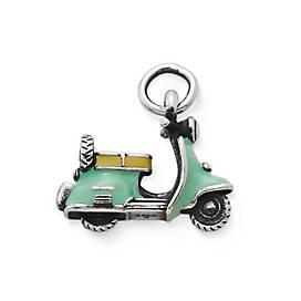 Enamel Vintage Scooter Charm